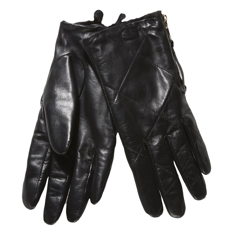 Kožené dámské rukavice s prošitím