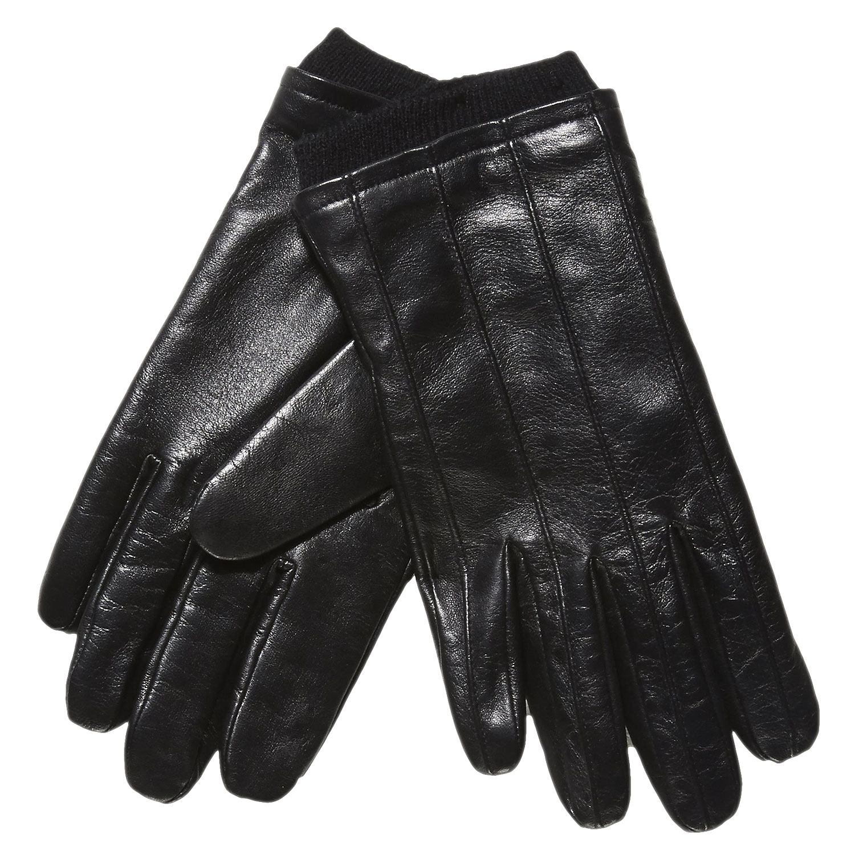 Skórzane rękawiczki ze ściągaczem - 9046117