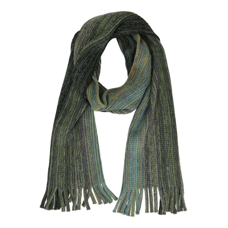 Pánská pletená šála zelená