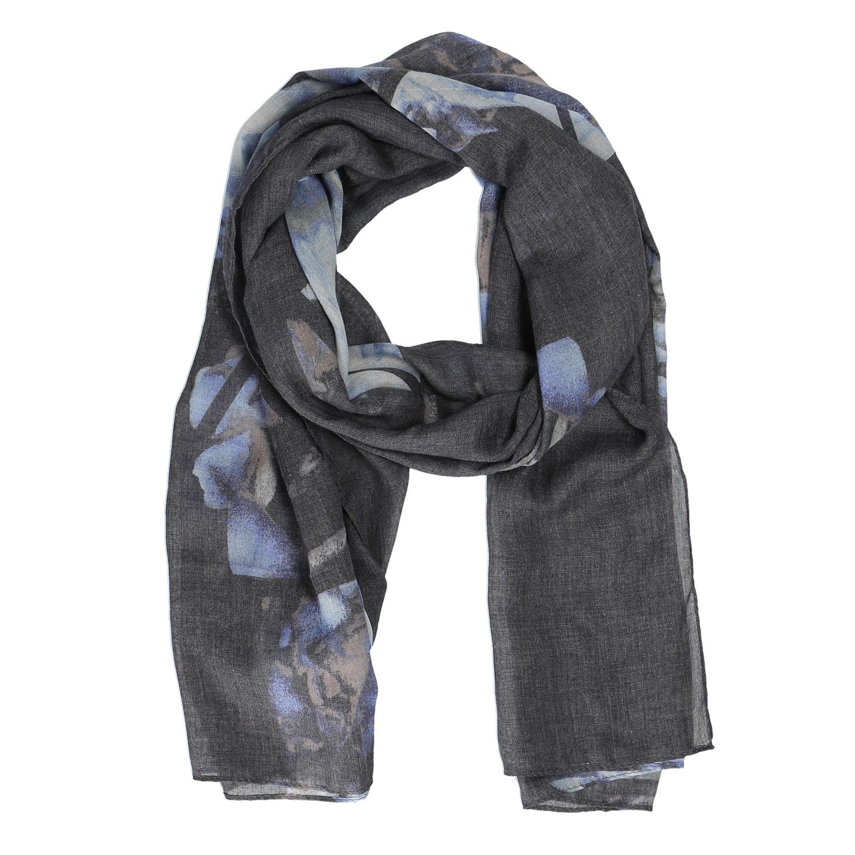 Šedý šátek s potiskem