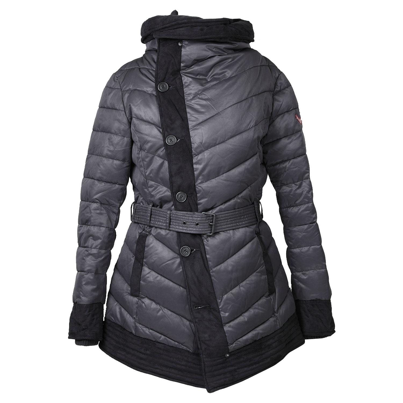 Dámská zimní bunda s páskem