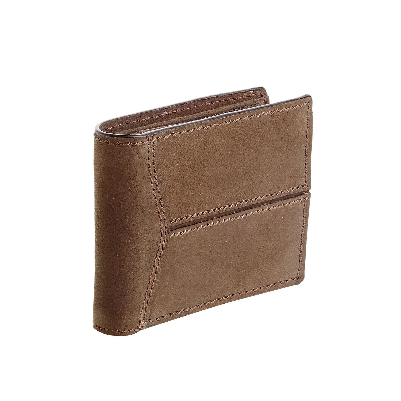 Męski skórzany portfel z przeszyciami - 9448146