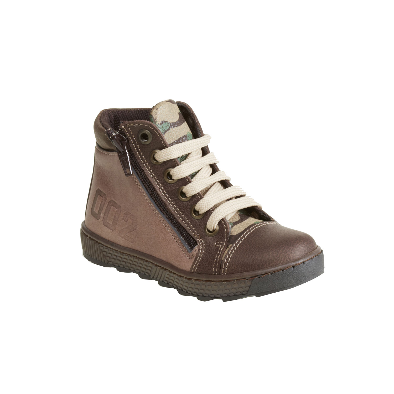 Kožené chlapecké kotníkové boty