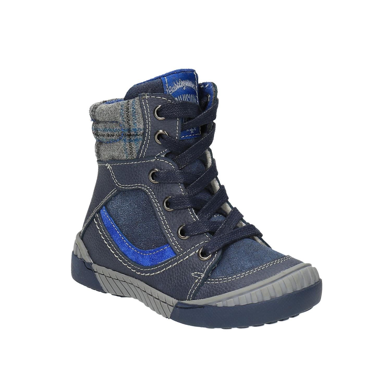 Dětská kožená obuv se zateplením