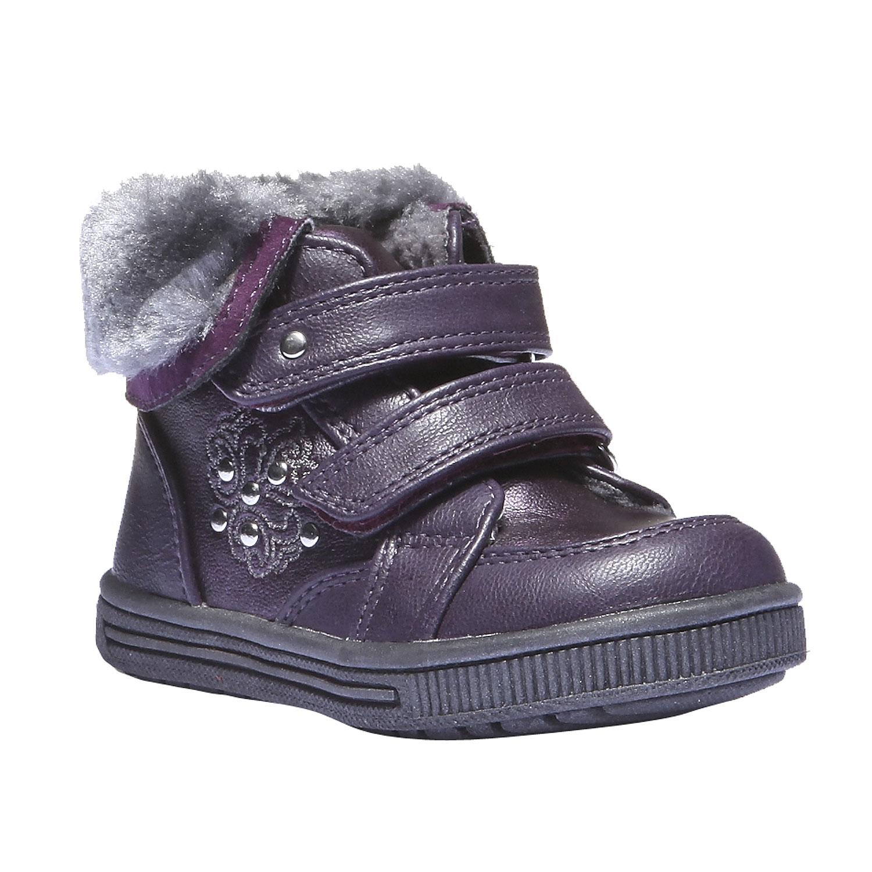 Dětské kotníkové boty s kožešinkou