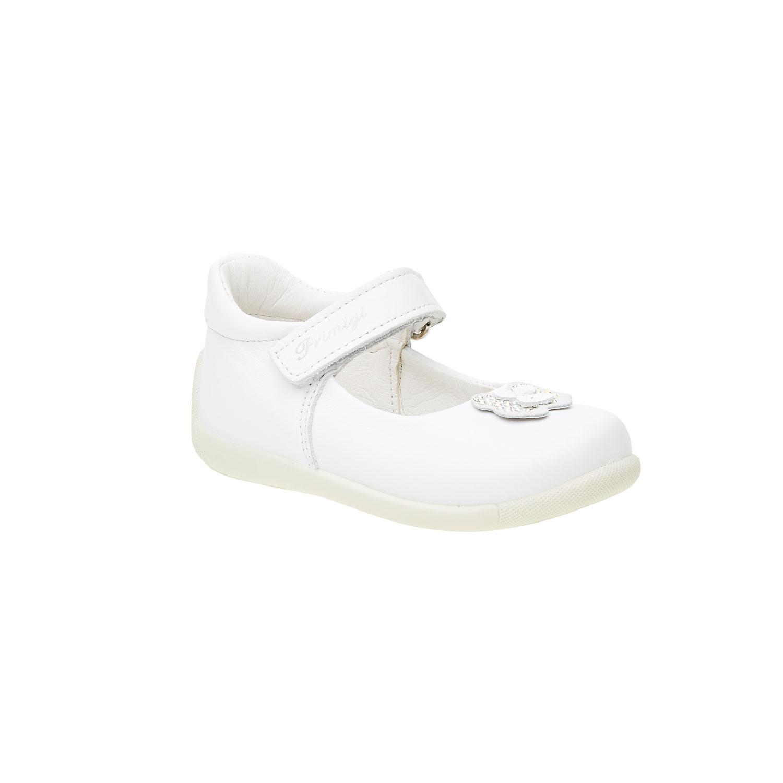 Bílá dětská obuv s páskem