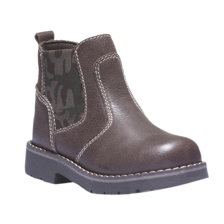 Dětské vysoké kožené boty