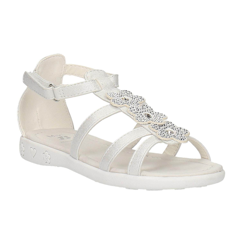 Dívčí sandály s kytičkami