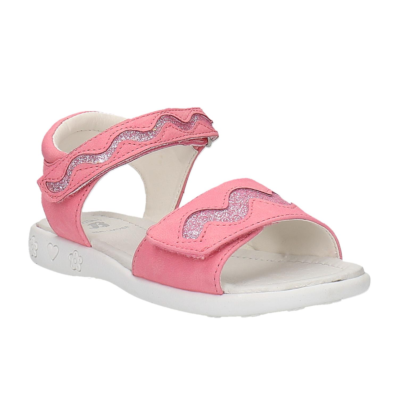 Růžové sandály na suché zipy