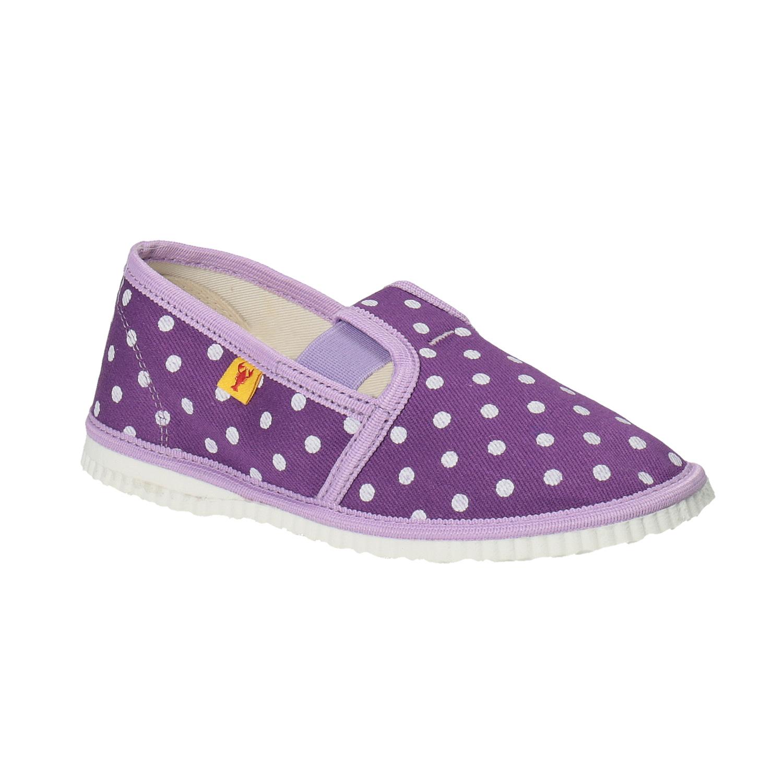 Dětská domácí obuv s puntíky
