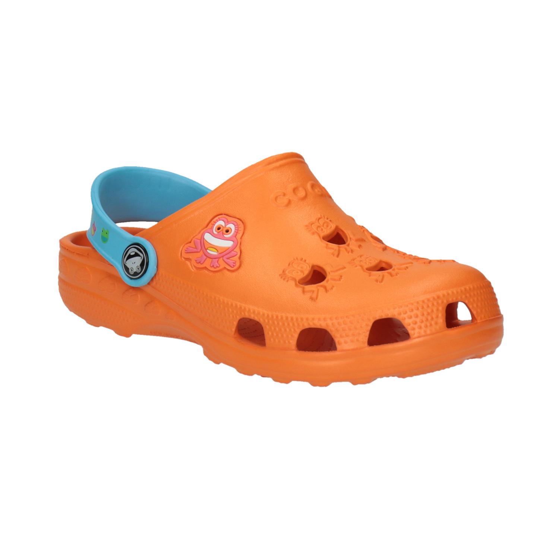 Dětské sandály s žabičkou oranžové