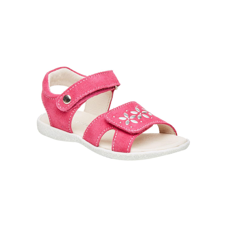 Dívčí kožené sandály na suché zipy