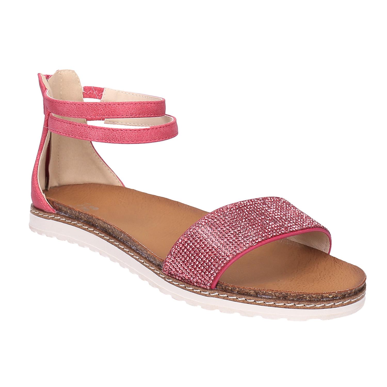 Dětské růžové sandály