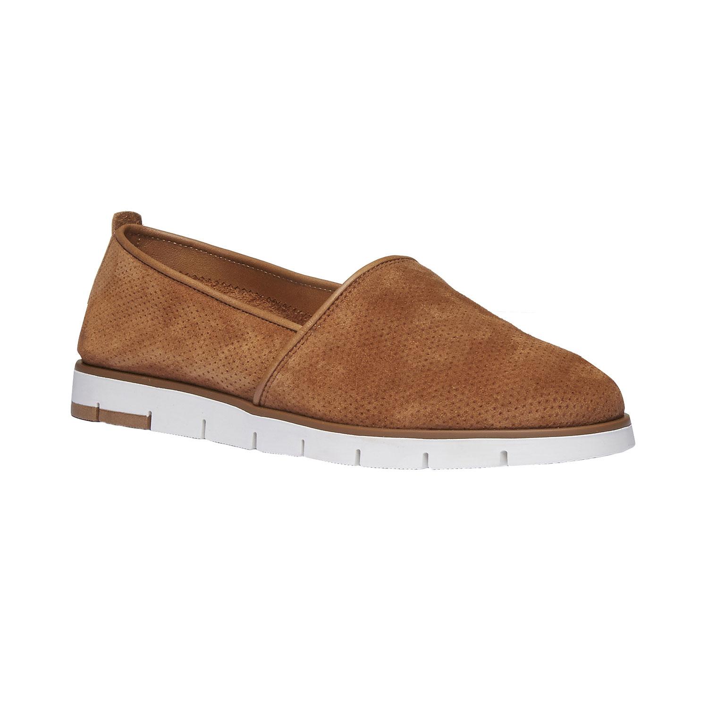 Skórzane buty Slip-on z perforacją - 5133200