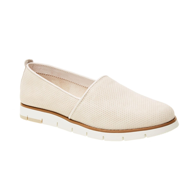 Skórzane buty Slip-on z perforacją - 5138200