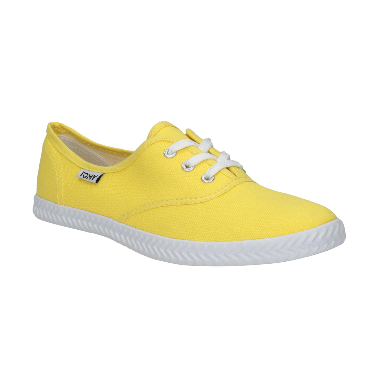 Żółte trampki damskie - 5198691