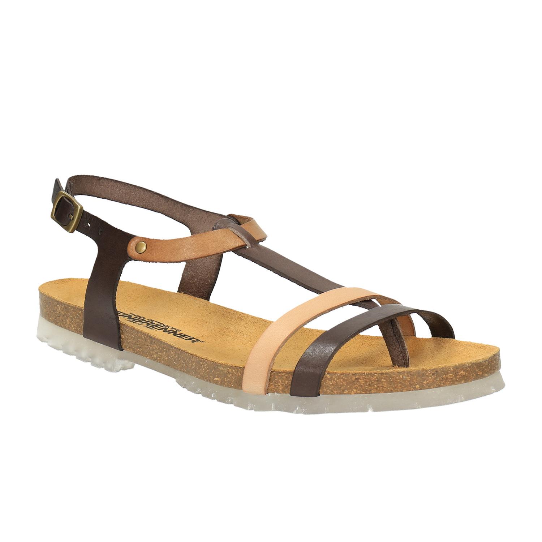 Skórzane sandały z przezroczystą podeszwą - 5640300