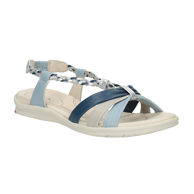 Damskie skórzane sandały - 5649353