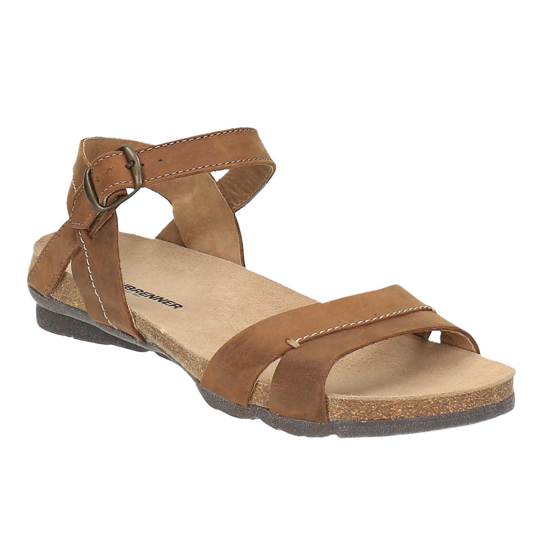 Damskie skórzane sandały - 5664102