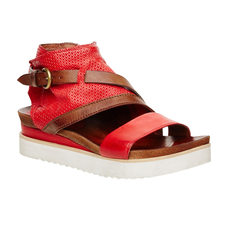 Damskie skórzane sandały - 5665104