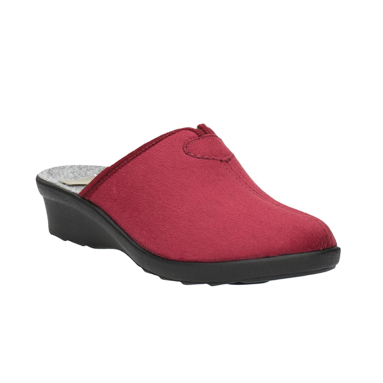 Dámská domácí obuv s plnou špicí
