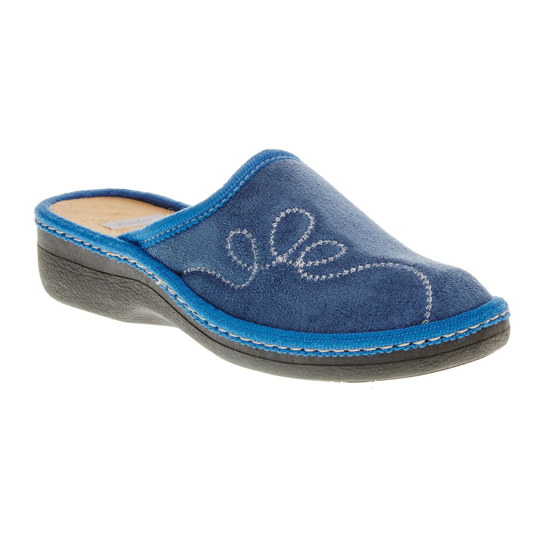 Dámské pantofle s výšivkou