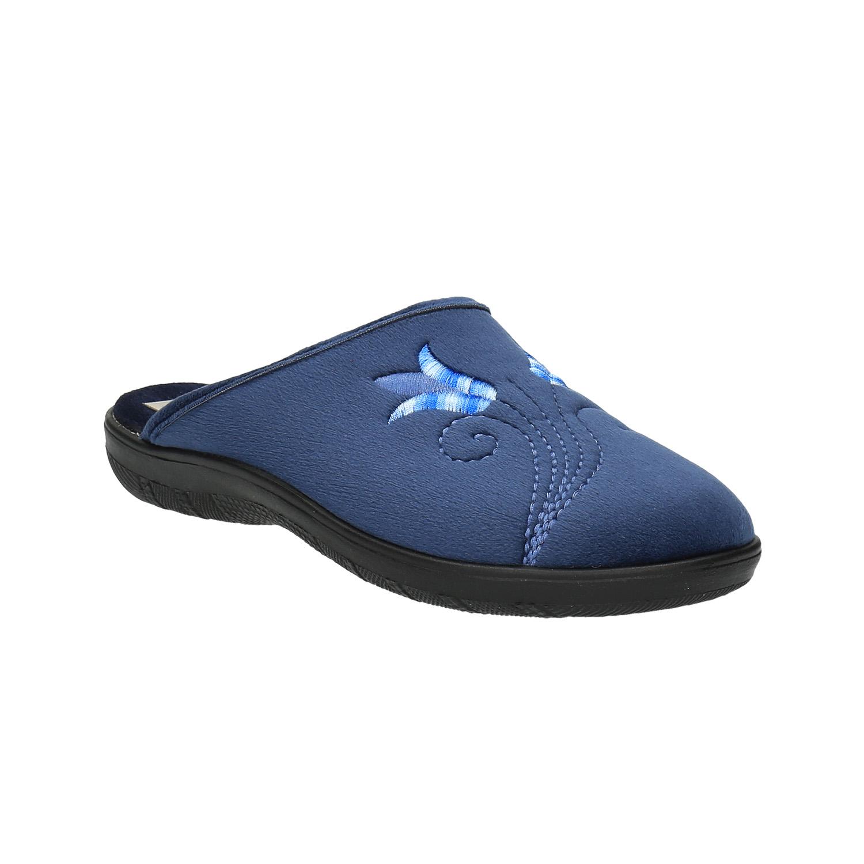 Dámská domácí obuv s výšivkou