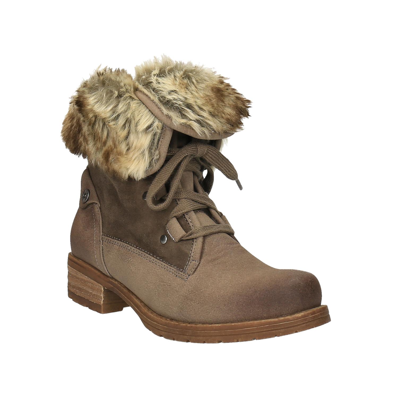 Dámská zimní obuv s kožíškem