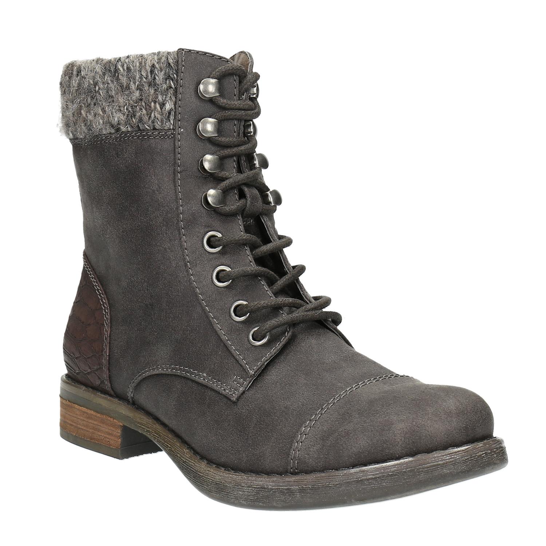 Dámská zimní obuv šněrovací