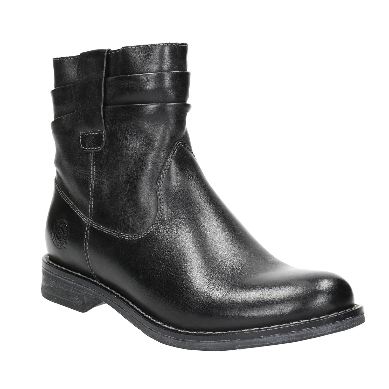 Dámská kožená kotníčková obuv