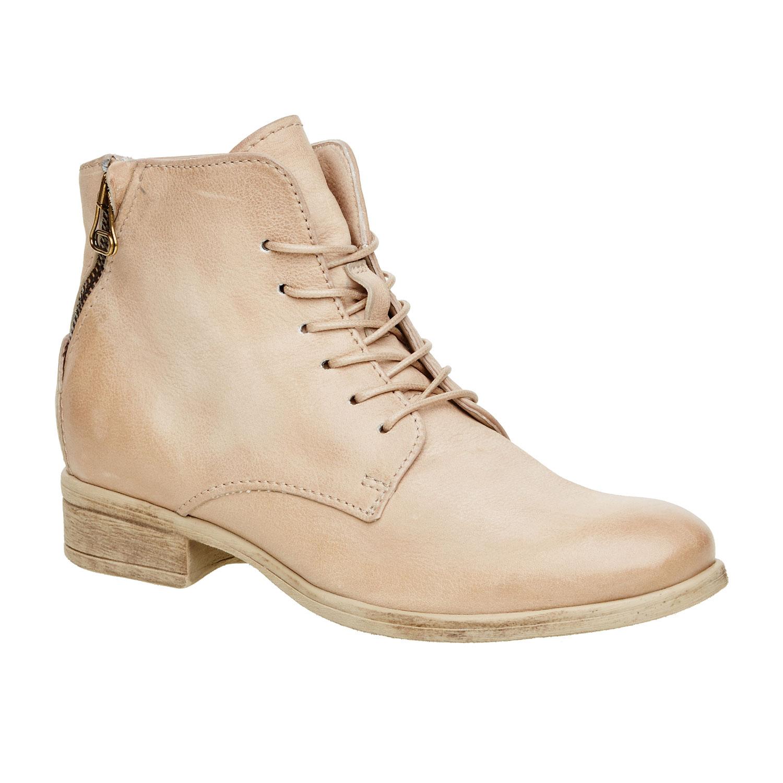 Kožené kotníčkové boty se zipem