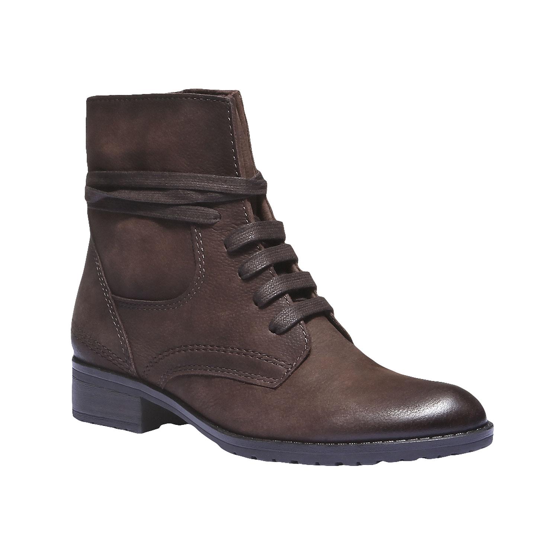 Dámská kožená šněrovací obuv