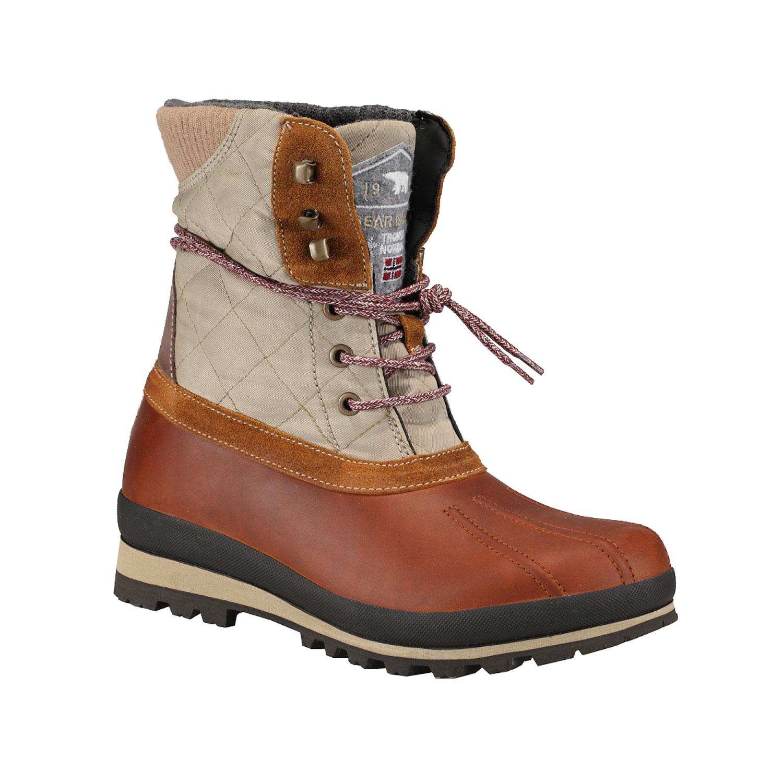 Kožené zimní boty