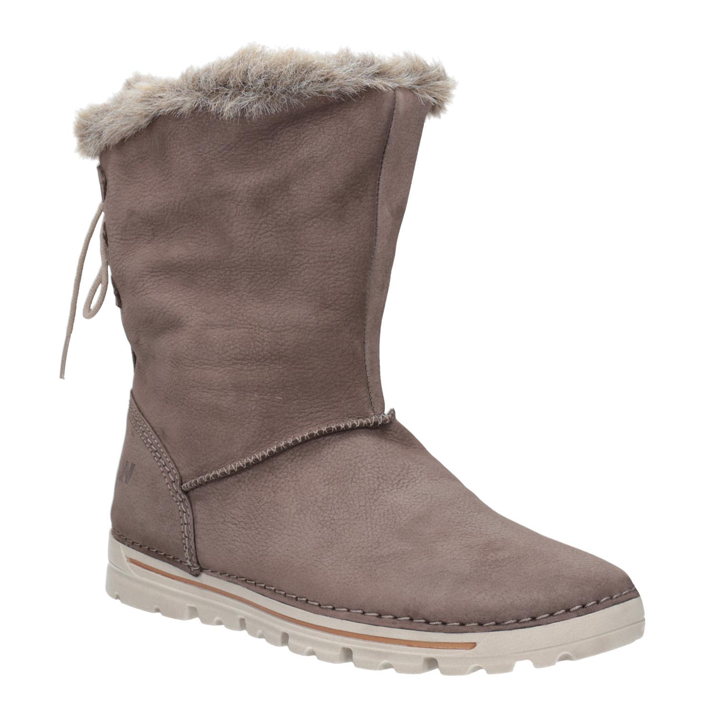 Kožená členková obuv   e44062ac771