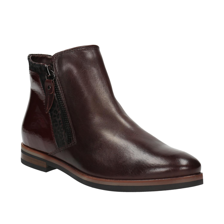 f04eb3872a Kožená členková obuv so zipsami