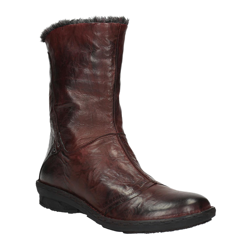 Dámská kožená obuv se zateplením