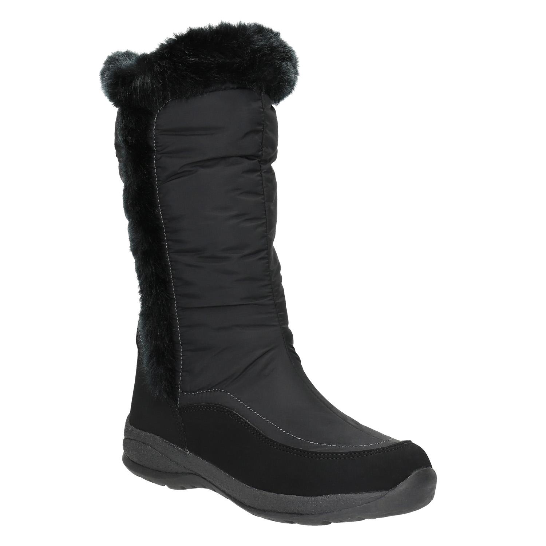 Czarne śniegowce z futerkiem