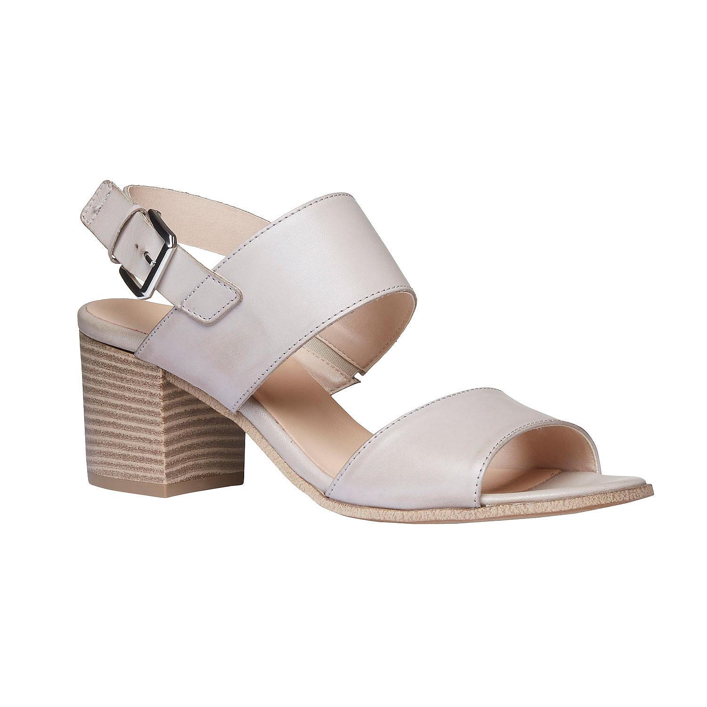 Kožené sandály na širokém podpatku
