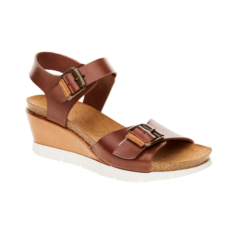 Damskie sandały z paskami - 6644193