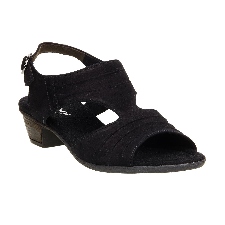 Kožené sandály na nízkém podpatku
