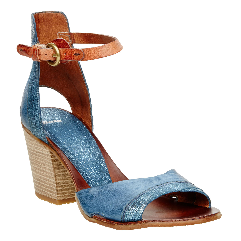 Dámské kožené sandály s kotníčkovým páskem