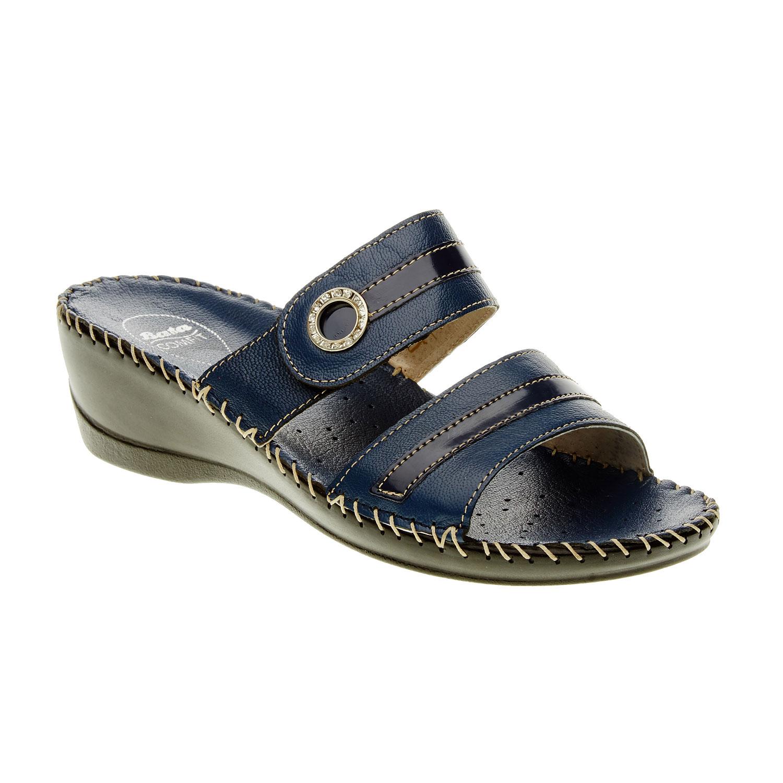 Dámské pantofle na klínovém podpatku