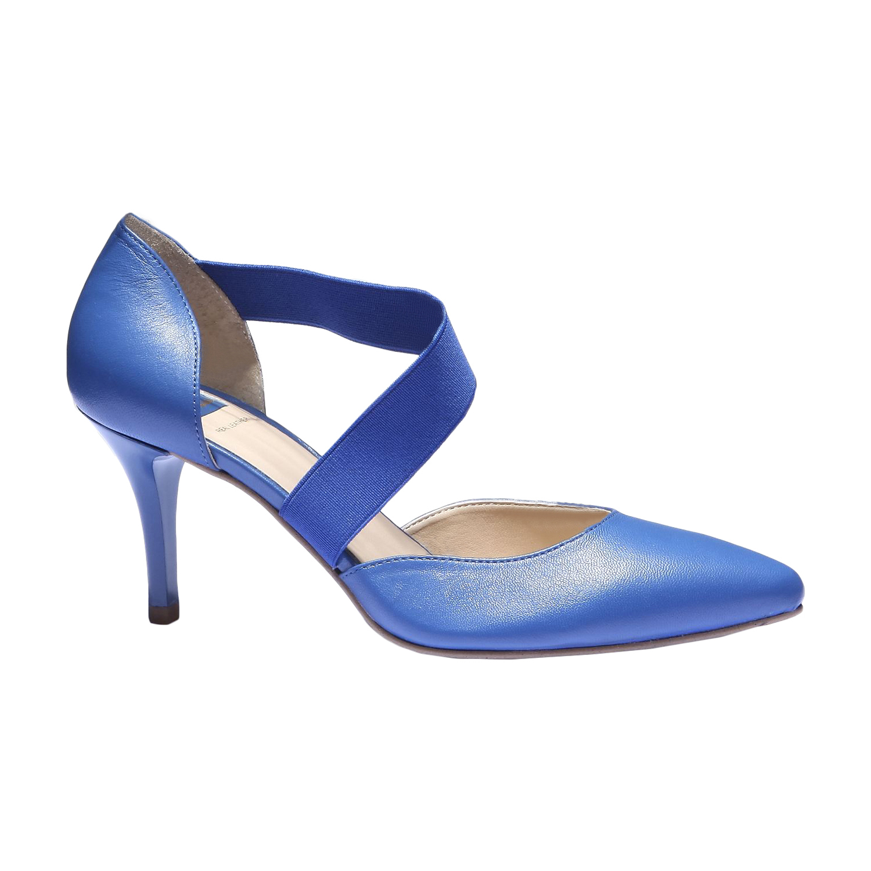 Elegantní kožená pásková obuv