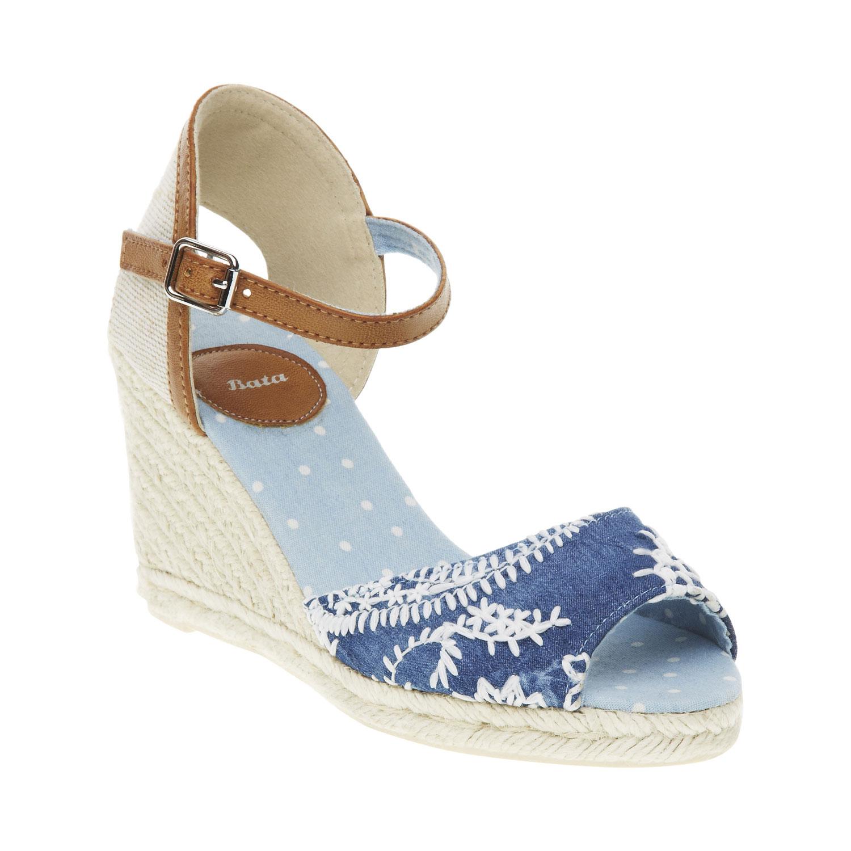 Sandály na klínovém podpatku