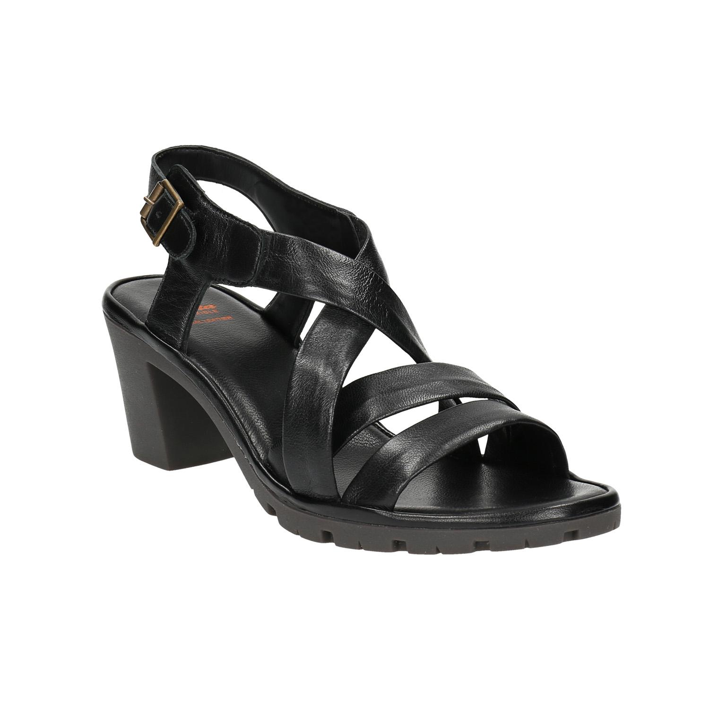 Damskie skórzane sandały - 7646538