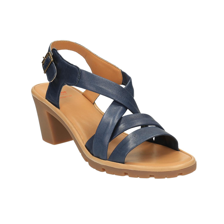 Damskie skórzane sandały - 7649538