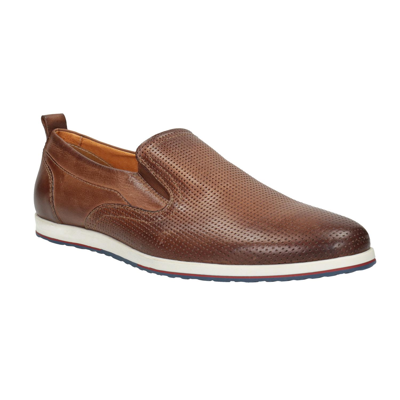 Pánské kožené Slip on boty