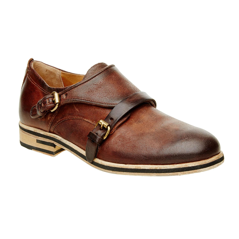 Pánská kožená obuv ve stylu Monk
