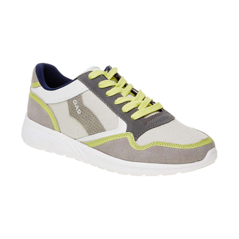 Męskie skórzane buty sportowe - 8438606