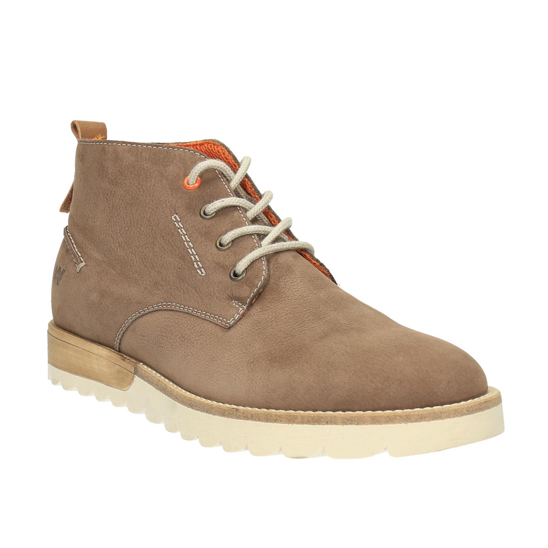Męskie skórzane buty Chukka Boots - 8464629